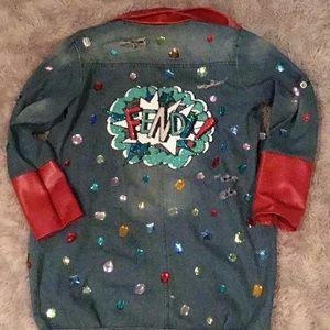 Handmade custom jean jacket